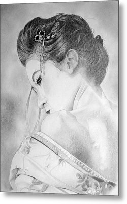 Geisha  Metal Print by Melanie Spencer