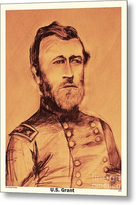 Metal Print featuring the painting General Us Grant by Eric  Schiabor