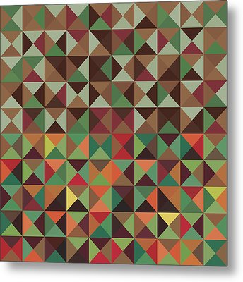 Geometric Pattern Metal Print by Mike Taylor