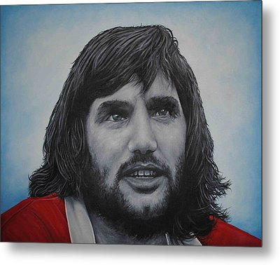 Metal Print featuring the painting George Best 'belfast Boy' by David Dunne