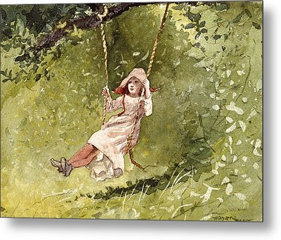 Girl On A Swing Metal Print by Celestial Images