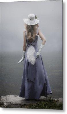 Girl With Fan Metal Print by Joana Kruse