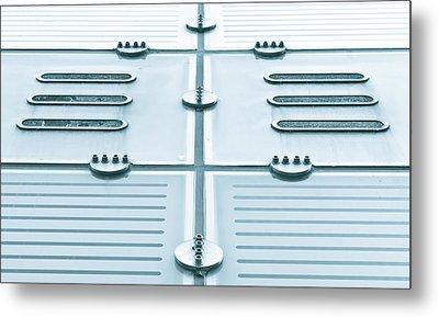 Glass Panels Metal Print