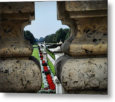 Glimpse Of The Nymphenburg Garden Metal Print by Zinvolle Art