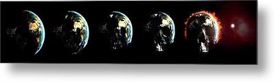 Global Destruction Metal Print by Animate4.com/science Photo Libary