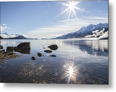 Glorious Sun Metal Print by Michele Cornelius