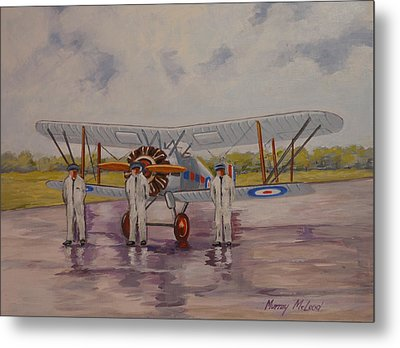 Metal Print featuring the painting Gloster Gamecock by Murray McLeod