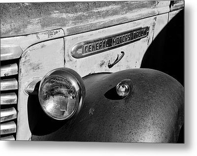 Gmc Truck Side Emblem Metal Print by Jill Reger