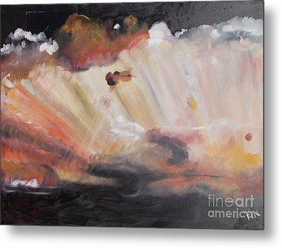 Metal Print featuring the painting God Is Truly Mighty by PainterArtist FIN