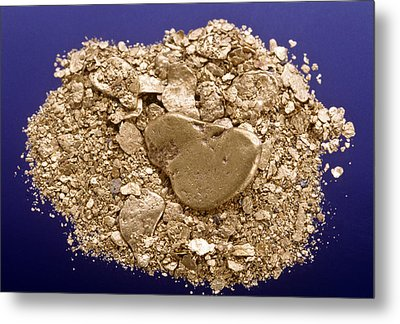 Gold Flakes & Dust Metal Print by Charles D. Winters