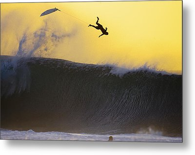Gold Leap Metal Print by Sean Davey