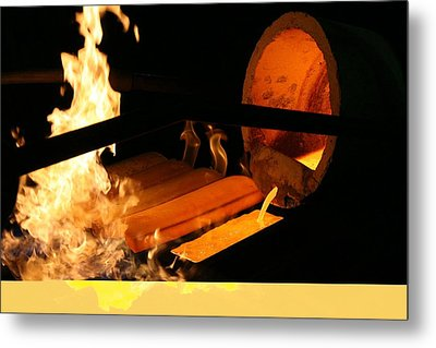 Gold Refinery Metal Print