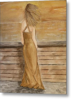 Metal Print featuring the painting Golden Breeze by Kelly Mills