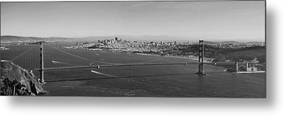 Golden Gate Bridge Panorama Metal Print by Twenty Two North Photography