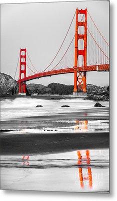Golden Gate - San Francisco - California - Usa Metal Print by Luciano Mortula