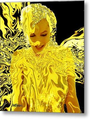 Golden Goddess Metal Print by Seth Weaver
