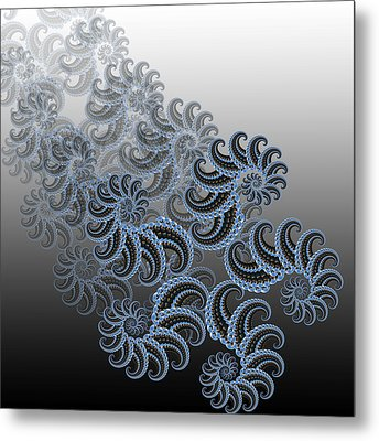 Golden Number Metal Print by Soumya Bouchachi