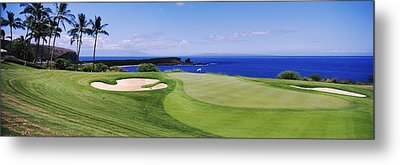 Golf Course At The Oceanside, The Metal Print