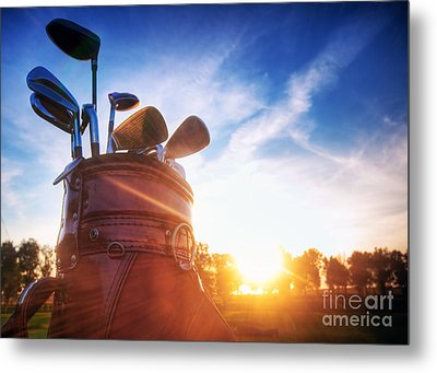 Golf Gear Metal Print by Michal Bednarek