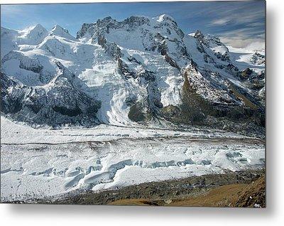 Gorner Glacier Metal Print by Bob Gibbons