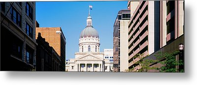 Government Building In A City, Indiana Metal Print by Panoramic Images