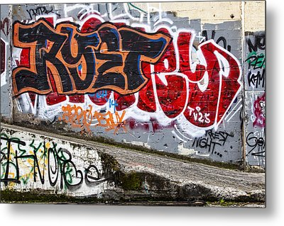 Graffiti Metal Print by Carol Leigh