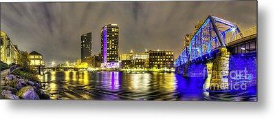 Grand Rapids Panorama Metal Print by Twenty Two North Photography