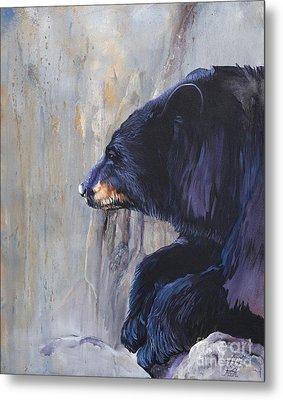 Grandfather Bear Metal Print by J W Baker