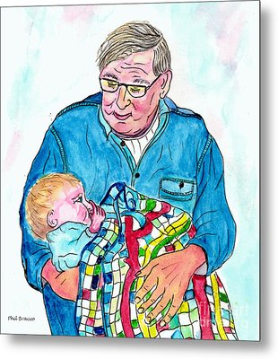 Grandpas Bundle Of Joy Metal Print