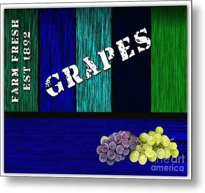 Grape Farm Metal Print