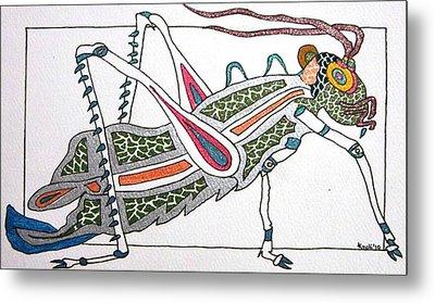 Grasshopper II Metal Print by Kruti Shah