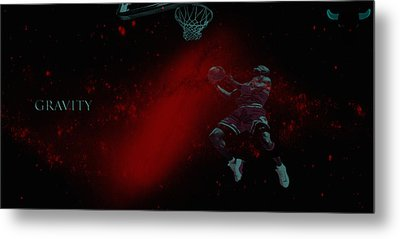Metal Print featuring the mixed media Gravity by Brian Reaves