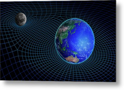 Gravity In Outer Space Metal Print by Andrzej Wojcicki