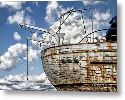 Greek Fishing Boat Metal Print