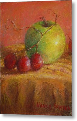 Green Apple Metal Print
