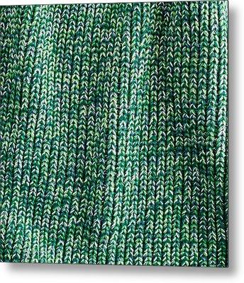Green Wool Metal Print by Tom Gowanlock