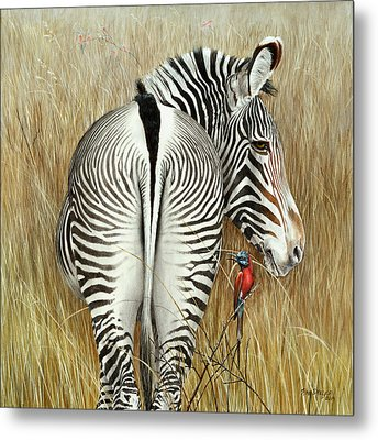 Grevy And The Bee Eaters Metal Print