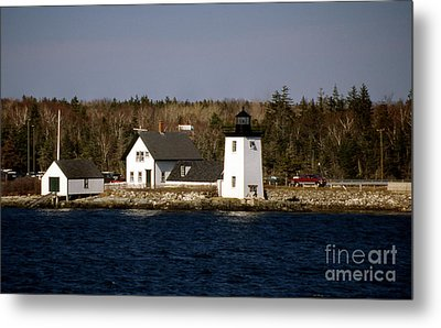 Grindel Point Lighthouse  Metal Print by Skip Willits