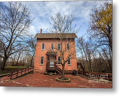Grist Mill In Deep River County Park Metal Print by Paul Velgos