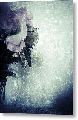 Grunge Flowers 2 Metal Print by Isabella F Abbie Shores FRSA