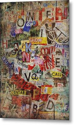 Grunge Textured Background Metal Print by Jelena Jovanovic