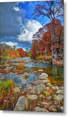 Guadalupe In The Fall Metal Print by Savannah Gibbs