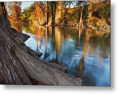 Guadalupe River, Texas Hill Country Metal Print by Larry Ditto
