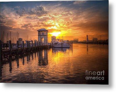 Gulfport Harbor Metal Print