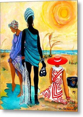 Metal Print featuring the painting Gullah-creole Trio  by Diane Britton Dunham