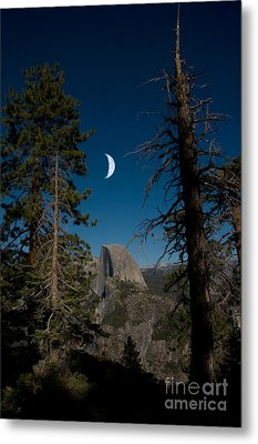 Half Dome, Yosemite Np Metal Print by Mark Newman