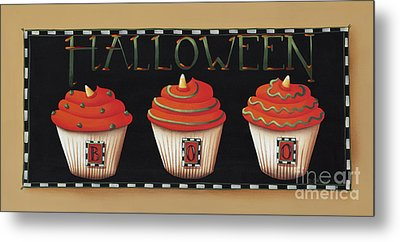 Halloween Cupcakes Metal Print by Catherine Holman
