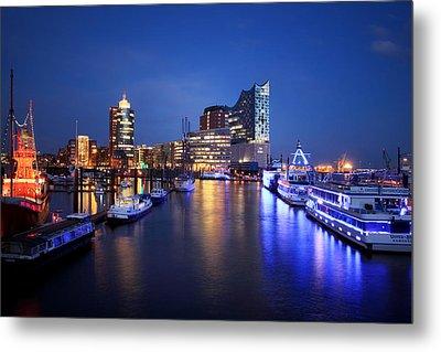 Hamburg Skyline Metal Print by Marc Huebner