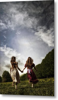 Hand In Hand Through Life Metal Print