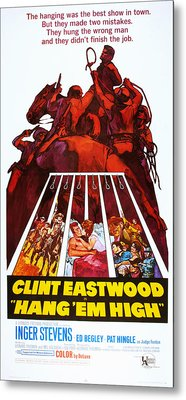 Hang Em High, Clint Eastwood, 1968 Metal Print